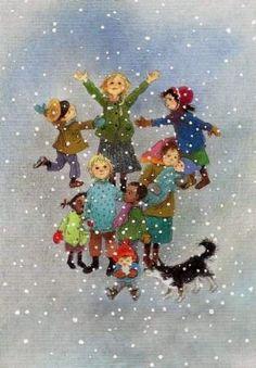 Winter Illustration, Christmas Illustration, Illustration Art, Elsa Beskow, Old Fashioned Christmas, Winter Art, Christmas Art, Xmas, Illustrations And Posters