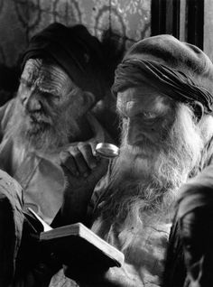 George Rodger  TUNISIA. Rabbis in the synagogue of Djerba Island. 1958