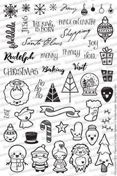 Doodles de Navidad (en la acción) | SandraAmelia