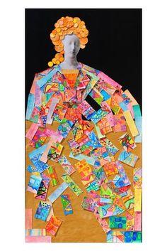 """Opera per l'VIII Biennale d'arte del Bambino """"Il colore come lo vedo ... come lo sento"""" Classi seconde a.s. 2012 Primaria Forte 48 """"Trame e orditi nuovi per Maria"""""""