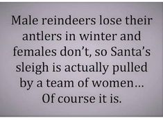 Of course it is 😂 This is hilarious after I get over the s at the end of reindeer. Haha Funny, Funny Jokes, Hilarious, Funny Stuff, Random Stuff, True Quotes, Great Quotes, That Way, Just For You