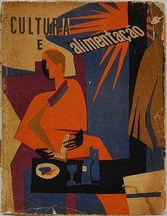 """Revista """"Cultura e Alimentação"""" - Capa de FAYGA OSTROWER - Nº 1- Janeiro de 1950 - 100 pgs"""