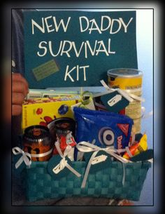 New Daddy Gift Basket | Daddy gifts, Pregnancy and Babies