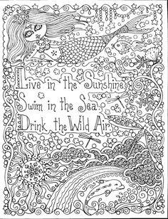 ツ ღ  INSTANT DOWNLOAD Swim in the Sunshine Mermaid Art by ChubbyMermaid, $1.99