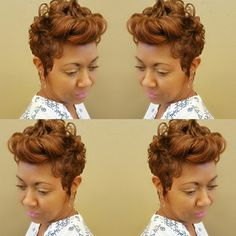 STYLIST FEATURE| Gorgeous color on this #pixiecut✂️ done by #GramblingLA Stylist @elandadunn_stylist She looks beautiful #VoiceOfHair