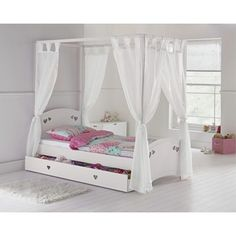 Buy Collection Mia Single 4 Poster Bed Frame - White at Argos.co.uk - Your Online Shop for Children's beds, Children's furniture, Home and garden.