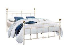 Furniture In Fashion Atlas Steel Single Bed In Cream