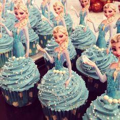 Frozen, Elsa cupcakes, blue, CUPCAKES