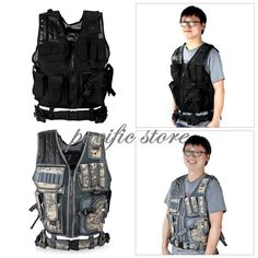 Molle Tactical Vest for Military Army Pollice Swat Combat Paintball Gun Holster
