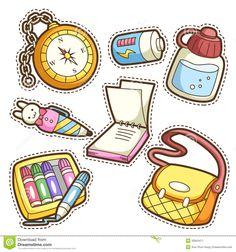school-set-set-different-school-items-vector-illustration-32843471.jpg (1300×1390)