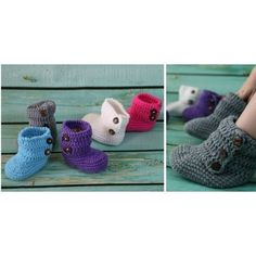 SUPER SOFT Crochet Baby Boots 6 colors 1m-4y