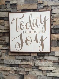 Today I choose Joy Framed wood sign * Christian decor * Christian gift * inspirational * Jesus Christ *