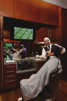 Our salon offer world-class treatments for women & men, including a full service barber with a royal straight-edge shave that is unmatched in Barber Shop Interior, Barber Shop Decor, Tony Barber, Master Barber, Straight Razor Shaving, Barbershop Design, Best Barber, Salon Design, Men's Grooming