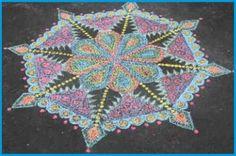 "Crayola® Sidewalk Chalk Zentangle®- Inspired Mandala"" art lesson plan by… Chalk Design, Design Art, Drawing Projects, Art Projects, Group Projects, Mandala Art Lesson, Chalk Drawings, Sidewalk Chalk, Collaborative Art"