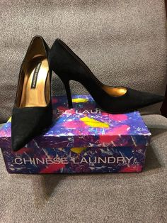 7ce586c1097 Black high heels size 9 Condition is Pre-owned.