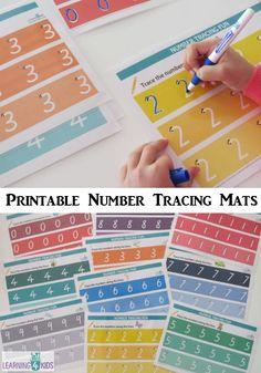 Printable Number Tracing Mats