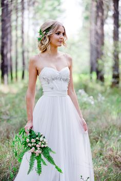 Romantic woodland wedding dress
