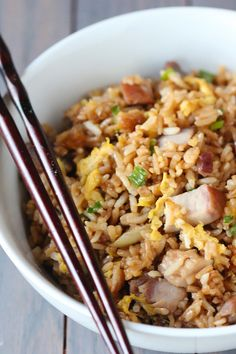 Pork Fried Rice. This restaurant favorite is easy to make at home! | gimmesomeoven.com