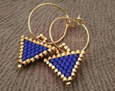 Seed Bead Jewelry, Bead Jewellery, Seed Bead Earrings, Diy Earrings, Earrings Handmade, Beaded Jewelry, Beaded Bracelets, Brick Stitch Earrings, Beaded Earrings Patterns