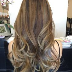 My recent ombre/balayage with ash blonde, but this picture doesn't justify blonde how I am. - Yelp