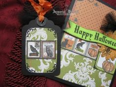 Gothic Halloween Greeting Card | Immortal Visions Crafts by Melissa Walker
