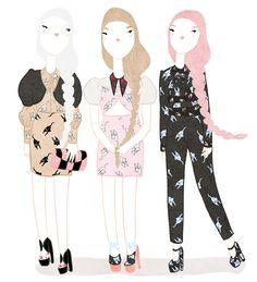 Kris Atomic | cute fashion illustrations