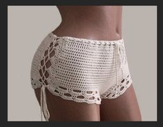 Crochet Shorts-Bikini Shorts-sexy white shorts-Crochet beach shorts-Crochet lace shorts Crochet sexy shorts - indispensable thing for summer vacation, when you want something unusual, bright impressions, admiring the views and a good tan. If you are tired Shorts Crochet, Crochet Clothes, Crochet Bikini, Shorts Sexy, Lace Shorts, White Shorts, Cut Shorts, Cotton Crochet, Crochet Lace