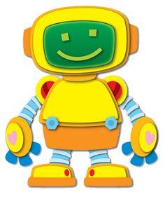 Robot Clip art, can be used for Robot Bolt counting game. Robots For Kids, Art For Kids, Robot Clipart, Robot Images, Robot Theme, Crazy Toys, Blog Backgrounds, Baby Room Art, Felt Patterns