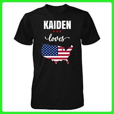 Kaiden Loves Usa 4th July Independence Day Gift - Unisex Tshirt Black S - Holiday and seasonal shirts (*Amazon Partner-Link)
