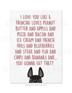 I Love You Like... - Card - French Bulldog Love - 1