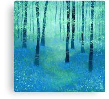 Bluebells, Challock Canvas Print