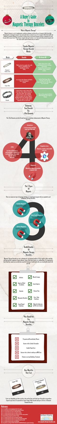 Infographic : Buyers Guide To Magnetic Therapy Bracelets