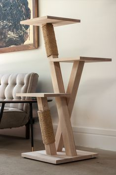 Wooden Cat Tree, Diy Cat Tree, Wood Cat, Cat Trees, Modern Cat Furniture, Pet Furniture, Cat Tree House, Cat Stands, Cat Shelves