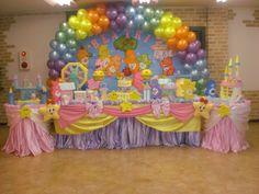 Ursinhos Carinhosos (Festa) Care Bear Party, Birthday Cake, Birthday Ideas, Baby Shower, Twins, Party Ideas, Baby Party, Care Bears, Masha And The Bear