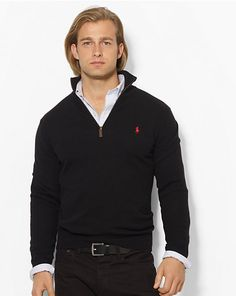 Merino Wool Half-Zip Sweater - Half-Zip & Mock Neck   Sweaters - RalphLauren.com