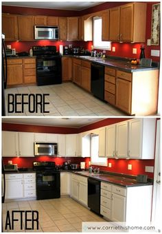 Painted Kitchen Cabinets how to refinish your kitchen cabinets | kitchens, house and apartments