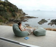 Coast New Zealand is a luxury brand inspired by New Zealand's unique lifestyle. Our luxury outdoor beanbags and outdoor cushions, made in Sunbrella, canvas luggage and natural textiles are designed and made in New Zealand Outdoor Rooms, Indoor Outdoor, Outdoor Living, Outdoor Balcony, Contemporary Outdoor Furniture, Spa Interior, Interior Ideas, Outdoor Bean Bag, Eco Buildings