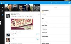 Twitter for Android is now optimized for Tablet users.