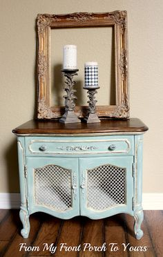 Blue side table!!!