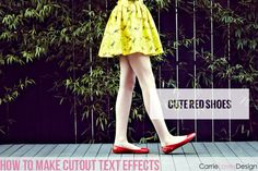 How to make text cutouts