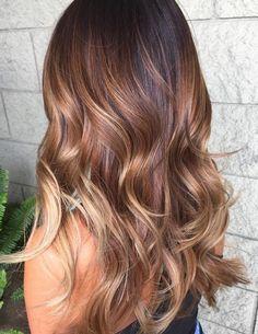 Honey Blonde Hair Color - Auburn Honey Blonde Balayage