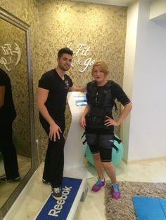 With your personal trainer Madalin and the XBody training