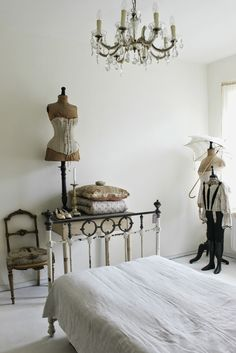 My #bedroom #boudoir #french # antique #mannequin