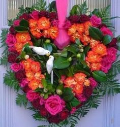 Valentines Day Decor with Flowers Fruit and Berries
