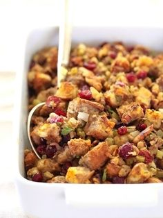 Cranberry Celery and Walnut Stuffing from @foodiecrush