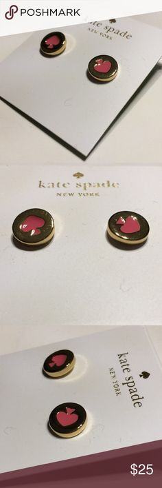 Kate Spade Stud Earrings Kate Spade New York Stud Earrings Beautiful crafted of the best materials Shimmering stone crystals set in gold/silver tone hardware Post with comfortable friction backing Product Information: Spot The Spade Flamingo Product Dimensions	2 x 1 x 1 inches Gold plated base Kate Spade Factory kate spade Jewelry Earrings