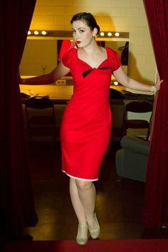 Das Glück BB dress red | Jurken | Miss Vintage | Retro, vintage geïnspireerde dames kleding