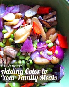 {Dinner Rainbow} Great tips on getting kids to eat their fruits and veggies by making your meals more colorful.  Wanna chat with the dietitian live?  Join in our Zmoms facebook chat Wednesday, the 14th here: http://www.facebook.com/events/226266440838249/