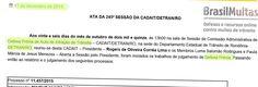 Multas de trânsito: Ata de julgamentos de defesas/recursos da245ª sessão da CADAITDETRAN/RO +http://brml.co/1Qf30or