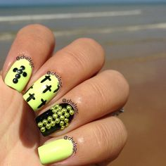 Neon and stud nails